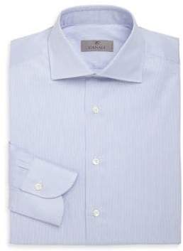 Canali Hairline Striped Cotton Dress Shirt