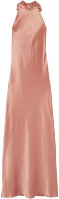 Galvan Sienna Silk-satin Halterneck Gown