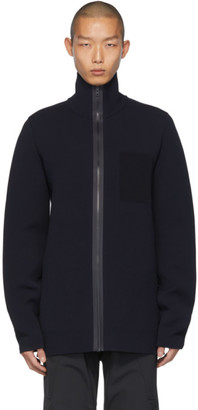 Bottega Veneta Navy Scuba Double Sweater