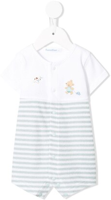 Familiar striped babygrow