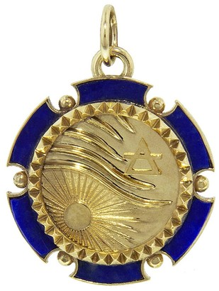 Foundrae Air Badge Element Medallion - Yellow Gold