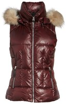 Andrew Marc Women's Lanie Puffer Vest With Faux Fur