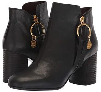 See by Chloe SB31148A (Nero Velvet Calf) Women's Zip Boots