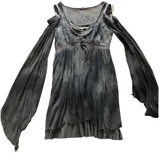 Mariagrazia Panizzi Green Silk Dress for Women