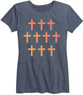 Blue Cross Instant Message Women's Women's Tee Shirts HEATHER - Heather Grid Relaxed-Fit Tee - Women