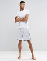 Boss By Hugo Boss Lounge Shorts With Contrast Tipping In Grey Regular Fit