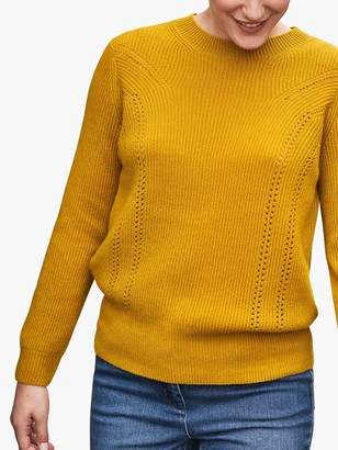 Pure Collection Ribbed Cashmere Sweater, Ochre