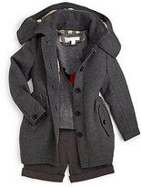 Burberry Little Girl's Skirted Wool Coat
