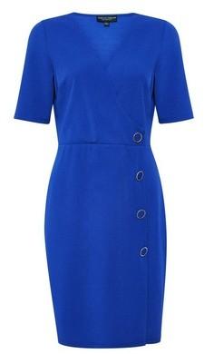 Dorothy Perkins Womens Cobalt Button Detail Bodycon Dress, Cobalt