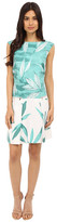 Donna Morgan Sleeveless Printed Drop Waist Dress with Pocket Front