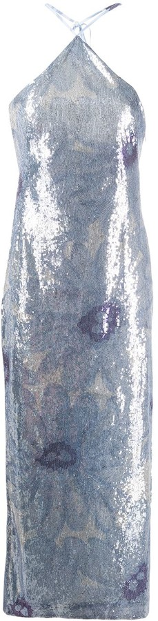 Jacquemus Sequinned Floral Patterned Dress