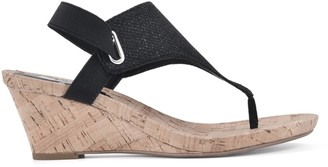 White Mountain Cork Wedge Thong Sandals - All Good