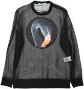 Givenchy flamingo print sheer sweatshirt - women - Silk/Cotton/Polyester/Spandex/Elastane - S