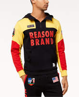 Reason Men's Explorer Colorblocked Logo-Print 1/4-Zip Hoodie