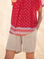 M&Co Herringbone linen shorts