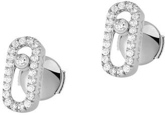 Messika Move Uno 18K White Gold & Diamond Stud Earrings