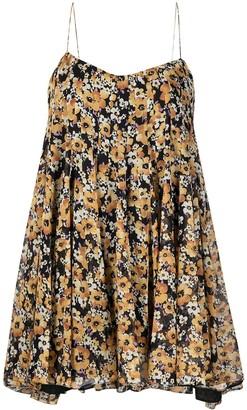Saint Laurent Floral-Print Dress