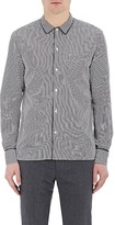 Officine Generale MEN'S PIPED POPLIN SHIRT