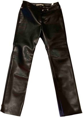 Acne Studios Black Leather Trousers