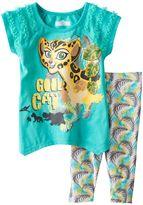 "Disney Disney's The Lion Guard Fuli Toddler Girl ""Cool Cat"" Tunic & Palm Leaf Printed Leggings Set"