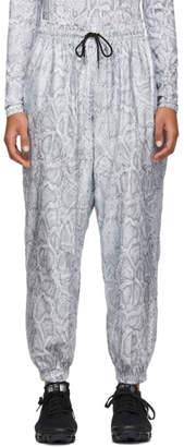 Nike White and Grey Python Lounge Pants