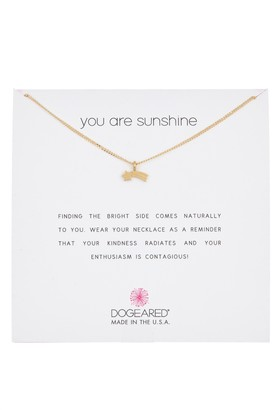 Dogeared You Are Sunshine Shooting Star Pendant Necklace