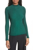 Milly Women's Italian Stardust Ribbed Turtleneck
