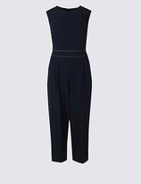 M&S Collection Stitched Waist Sleeveless Jumpsuit