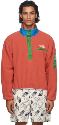 Brain Dead Red The North Face Edition Fleece Pullover Sweatshirt