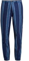 Blue Blue Japan Slim-fit linen-blend trousers