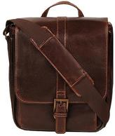 Wilsons Leather Mens Dark Rugged Tablet Bag Dark Brown