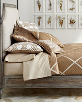 Isabella Collection King Braedon Lattice Duvet Cover