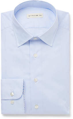 Etro White Slim-Fit Cotton Oxford Shirt