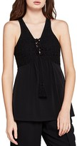BCBGeneration Sleeveless Crochet-Trim Top