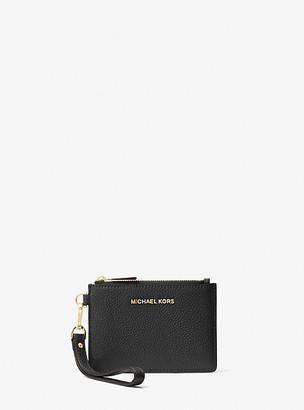 MICHAEL Michael Kors MK Small Pebbled Leather Wristlet - Black - Michael Kors