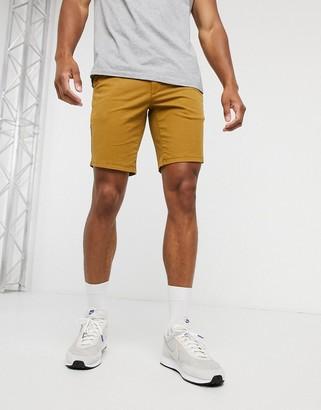 Farah Hawk chino shorts in tan