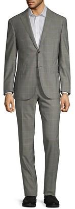 Corneliani Classic-Fit Bird's Eye Windowpane Wool Suit