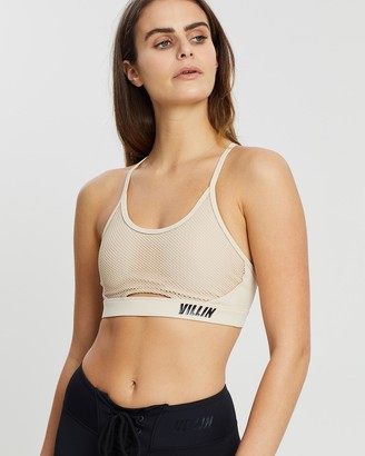 VILLIN - Women's Neutrals Crop Tops - Mesh Sports Bra - Miss Fit - Size One Size, XS at The Iconic