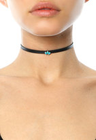 Jennifer Zeuner Jewelry Ivy Leather Choker With Turquoise