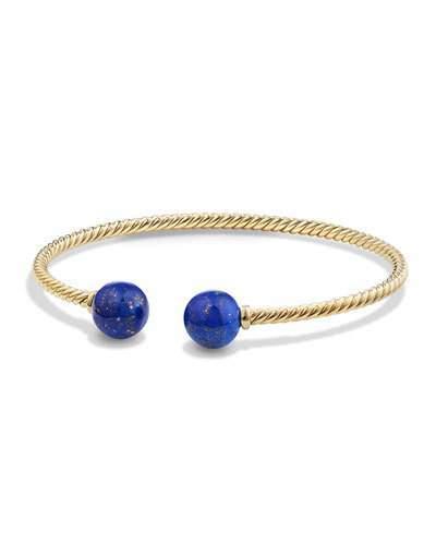 David Yurman Solari 18K Gold & Lapis Cuff Bracelet