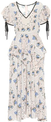 Rodarte Floral silk maxi dress