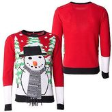 Loyalty And Faith Mens Christmas Sweater Novelty Knitted Red Xmas Jumpers Sizes S -XXL