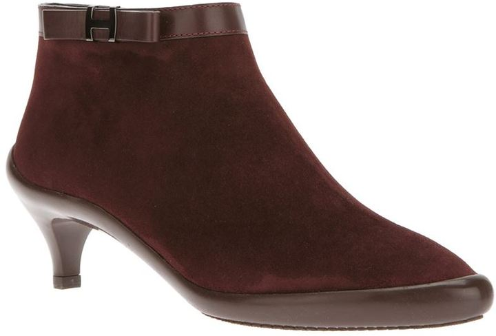 Hogan bow detail ankle boot