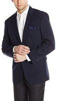 Louis Raphael Men's Tailored Classic Fit 2 Button Center Vent Jacket