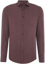 Armani Jeans Men's Regular fit rectangular geo print shirt