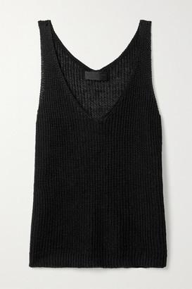 Nili Lotan Nala Open-knit Linen Tank - Black