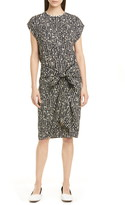 Proenza Schouler White Label Dot Drape Tie Front Dress