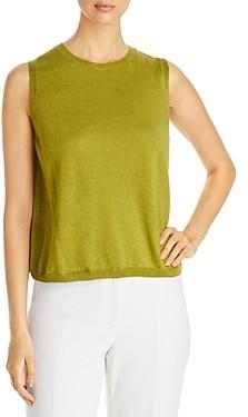 Eileen Fisher Sleeveless Organic Linen & Cotton Sweater