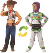 Toy Story NEW Reversible Buzz Lightyear to Woody Costume size 3-5