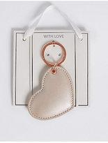 M&S Collection Metallic Heart Keyring
